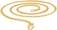 Fashion Frill Fashion Frill Trendy And Fancy Designer Double Coated Light Weighted Chain For Girls / Women Gold-plated Plated Metal Chain