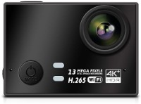 Auslese Action Cam Real 4k+ Ultra HD 30fps 13MP Hisilicon 3559 Chipset and Panasonic 34110 Image Sensor 170°A+HD Wide-Angle Lens, Image stabilizer WiFi Action Camera Sports and Action Camera(Black, 16 MP)