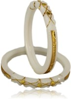 Minabazar Copper, Shell Gold-plated Shakha Pola(Pack of 2)