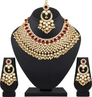 Spargz Alloy Jewel Set(Gold, Red)