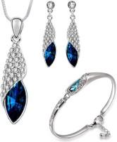 Om Jewells Alloy Jewel Set(Blue)