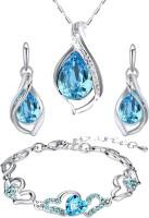 Oviya Alloy Jewel Set(Blue, Silver)