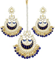 Trushi Alloy Jewel Set(Blue, Gold)