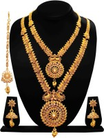 ARTS CHETAN Brass Jewel Set(Gold)