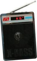 CRETO SL-413 Best Quality Portable Fm Radio Supports USB pen-drive, aux memory card FM Radio(Black)