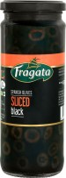 Fragata Spanish Olives Sliced Black (Ideal for Pizzas and Salads) Olives & Peppers(430 g)
