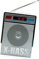 CRETO SL413 Best Quality Sound Fm Radio Supports USB pen-drive, aux memory card FM Radio(Silver)