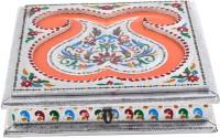 Shreeng Shreeng Handicraft 11x11 Silver Meena Dry Fruit/ Multipurpose Box (28cmX28cmX7cm) Wood Decorative Platter(Multicolor)