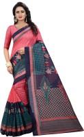 Yashika Printed Bhagalpuri Poly Art Silk, Silk Blend, Cotton Blend, Polycotton, Art Silk, Poly Silk, Tissue Saree(Multicolor)