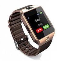 E-LIVE DZ09 4g calling health notifier Smartwatch(Gold, Black Strap, Free Size)