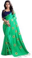 Vrundavan Ethics Embroidered Fashion Silk Saree(Light Green)