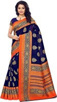 Saara Printed Fashion Poly Silk Saree(Blue)
