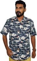 weaver Men Printed Casual Blue Shirt