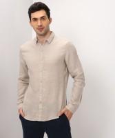 Levi's Men's Solid Casual Beige Shirt