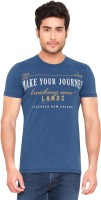 GlobalRang Graphic Print Men Round or Crew Denim Blue T-Shirt