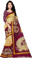 Vimalnath Synthetics Graphic Print Fashion Kota Silk Saree(Maroon)