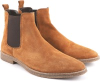 Freacksters Suede Leather Chelsea Boots For Men(Tan)