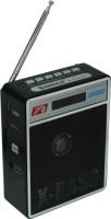 CRETO SL413 Latest Fm Radio supports USB pen drive, aux memory card FM Radio(Black)