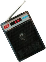 CRETO L-413 Portable Fm/Radio Supports USB pen-drive, aux memory card FM Radio(Black)