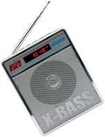CRETO L-413 Best Quality Sound Fm/Radio Supports USB pen-drive, aux memory card FM Radio(Silver)