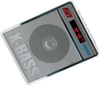 CRETO SL-413 Portable Radio/Fm Mp3 Audio Player Supports USB pen-drive, aux memory card FM Radio(Silver White)