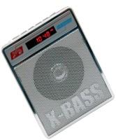 CRETO SL-413 Best Quality Radio/Fm Supports USB pen-drive, aux memory card FM Radio(Silver White)