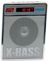 CRETO SL-413 Portable Radio/Fm Music Player Supports USB pen-drive, aux memory card FM Radio(Silver White)