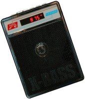 CRETO SL-413 Portable Compact Fm/Radio Supports USB pen-drive, aux memory card FM Radio(Black)