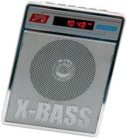 CRETO Portable SL-413 Fm/Radio Supports USB pen-drive, aux memory card FM Radio(Silver White)