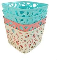 Shrih Plastic Multistorage Basket boxes Storage Basket(Pack of 4)