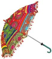 Riddhi Siddhi Crafts & Creations Fabric Embroidered Rajasthani Umbrella (Multicolours) Umbrella(Multicolor)