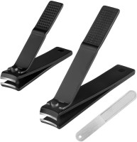 SYGA Nail Clipper Set - Black Stainless Steel Deluxe Fingernail and Toenail Clipper Cutter