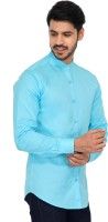 U TURN Men Solid Party Light Blue Shirt