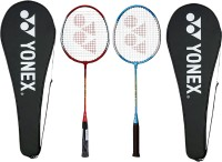 Yonex GR-303 Red, Blue Strung Badminton Racquet(G4 -3.25 Inches, 95 g)