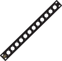 MX Audio Cable Stage Junction 12 Port plate for Microphone Cable with XLR RCA 3.5mm 6.3mm Mono stereo and Speakon Jack Extensions 12-Way Sound Junction Plate(Black)