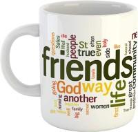 iKraft Friendship/Mug for Friend- Funny Friend Typography Printed CoffeeMug Birthday/Friendship Day Gifts for Men, Women Ceramic Mug(300 ml)