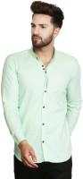 F2M Men's Solid Casual Light Green Shirt
