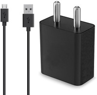 AHMAD ENTERPRISE WALL CHARGER/TRAVEL CHARGER 2.4 A Mobile Charger with Detachable Cable(Black)