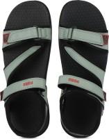 Puma Men Laurel Wreath-Elephant Skin-Black-High Risk Red Sports Sandals