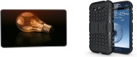 Clickplick Case Accessory Combo for Samsung Galaxy J1(Black, Multicolor)