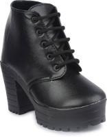 INF Boots For Women And Girls Boots For Women(Black)