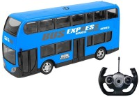 IndusBay Remote control R/C Double Decker City Commute Bus 4 Channel 2.4 GHz Radio controlled Bus toy for kids - Blue(Blue)