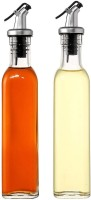 P-PLUS INTERNATIONAL Glass Oil and Vinegar Cruet, Seasoning Set for Dining Table, Home and Kitchen, 500 ml 30cm(Transparent) (2 Pack)  - 500 ml Glass Oil Container(Pack of 2, Clear)