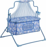NHR Cozy New Born baby Cradle / baby jhula / baby palna crib / Bassinet with Mosquito Net and Bottle Holder Bassinet(Blue)