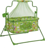 NHR Fun Baby Cozy New Born baby Cradle / baby jhula / baby palna crib / Bassinet with Mosquito Net and Bottle Holder Bassinet(Green)