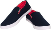 BRUTON Fit-Man Slip On Sneakers For Men(Red, Black)