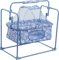 NHR Fun Baby Cozy New Born baby Cradle / baby jhula / baby palna / crib / Bassinet with Mosquito Net Bassinet(Blue)