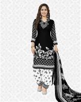 Divastri Crepe Printed, Geometric Print, Floral Print Salwar Suit Material(Unstitched)