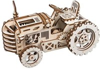 ROBOTIME Wooden Mechanical Gears Kits 3D Puzzle Brain Teaser Executive Desk Toys Best Birthday Gifts for Teens & Adults(Tractor)(1 Pieces)