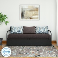 FurnitureKraft Caen Double Metal Sofa Bed(Finish Color - Brown Mechanism Type - Pull Out)